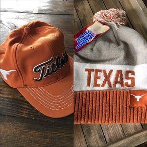 NWT Texas Longhorns hats